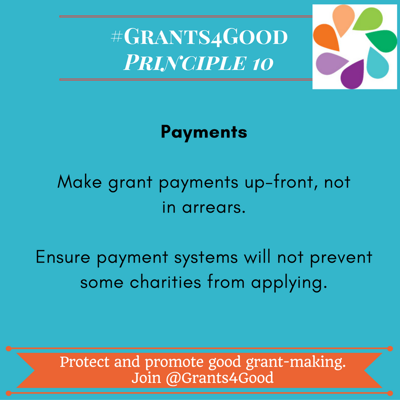 Principles of Good Grant Making - payments
