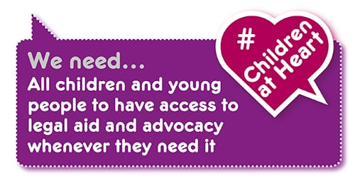 Manifesto demand: legal aid and advocacy for all children