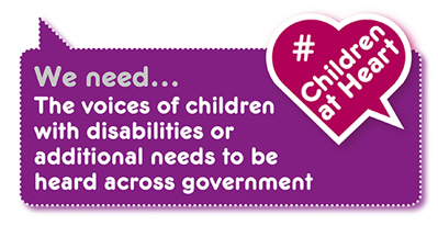 Manifesto demand: hear the voices of children with disabilities or special educational needs