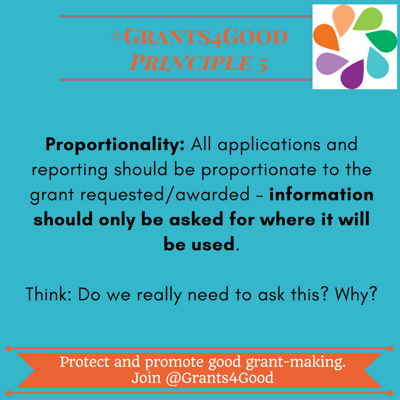 Principles of Good Grant Making - proportionality