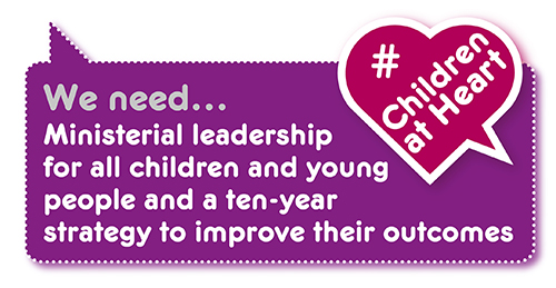 Manifesto demand: 10-year strategy and leadership for children