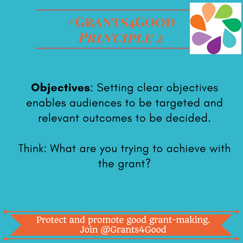 Principles of Good Grant Making - objectives