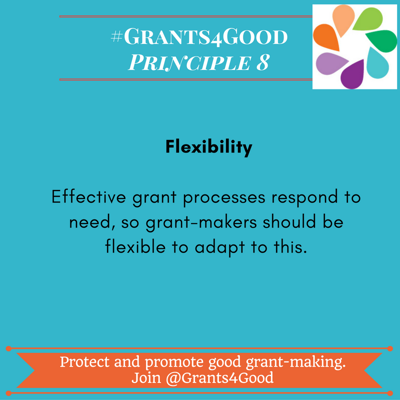 Principles of Good Grant Making - flexibility