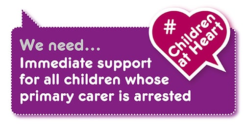 Manifesto demand: support for child when parent arrested