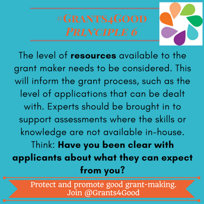 Principles of Good Grant Making - resources