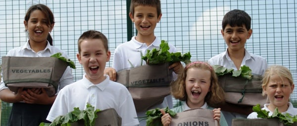 Young Lancashire photo - children with vegetables