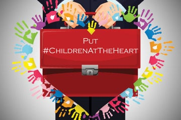 Campaign graphic - put children at the heart of the budget