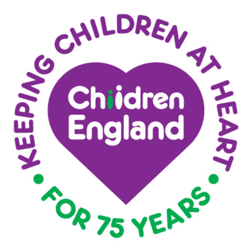 75 years Children England logo